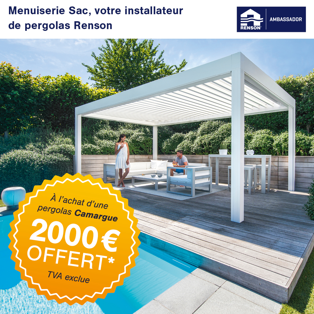 Action Staycation - Menuiserie Sac - Pergolas Renson